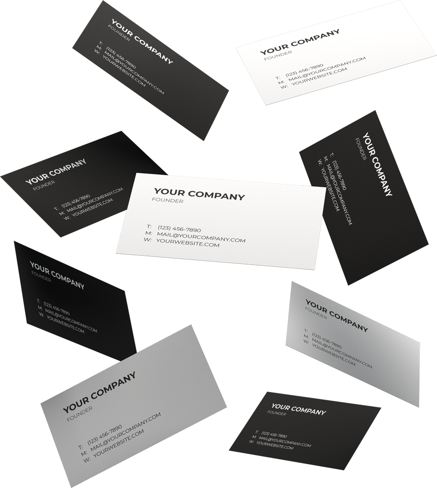 Your company design and branding on a black and white business card graphic design Nassau Bahamas