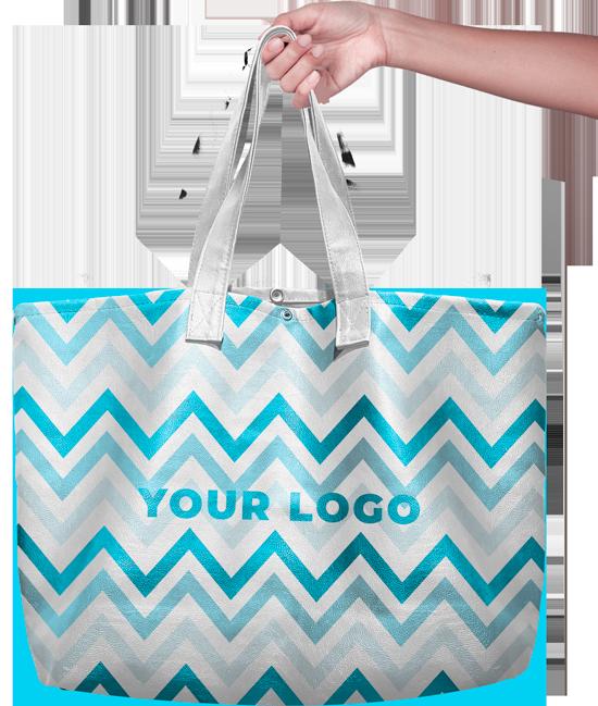 Woman holding a purse, handbag mockup turquoise graphic design nassau bahamas