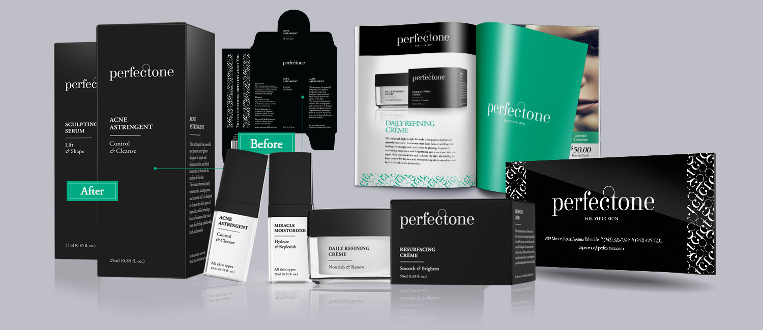 Black and green branding beauty skin care product mockup